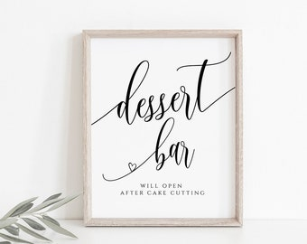 Dessert Bar Sign, Printable Dessert Sign, Dessert Table Sign, Dessert Table Decor, Wedding Table Signs, DIY Wedding, Calligraphy, FPC