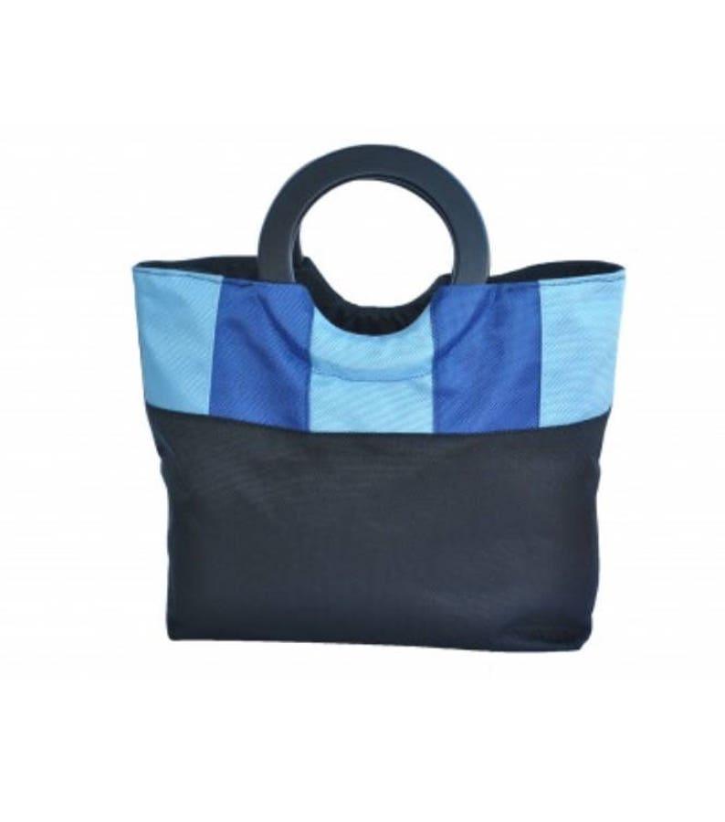 Foldable handbag blue lagon image 0
