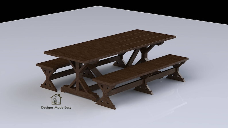 DINING Room Table EASY Woodworking Design Plans 01 FREE