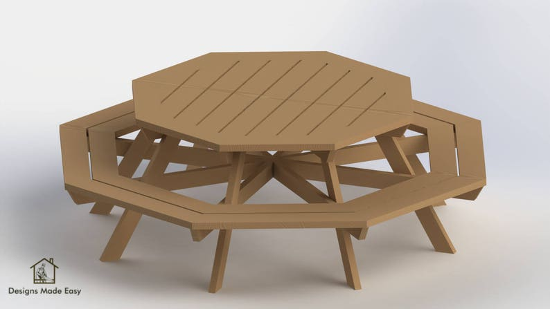Octagon Picnic Table Easy Woodworking Design Plans Free Board Cut Diagram For Woodworking 02