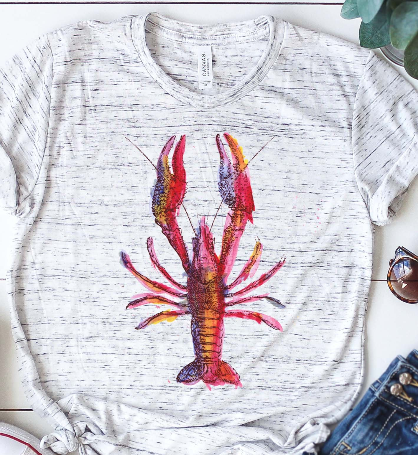 4a6401b2e Bella and Canvas Graphic Shirt Crawfish Womens Graphic | Etsy