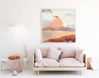 Abstract landscape Giclée print