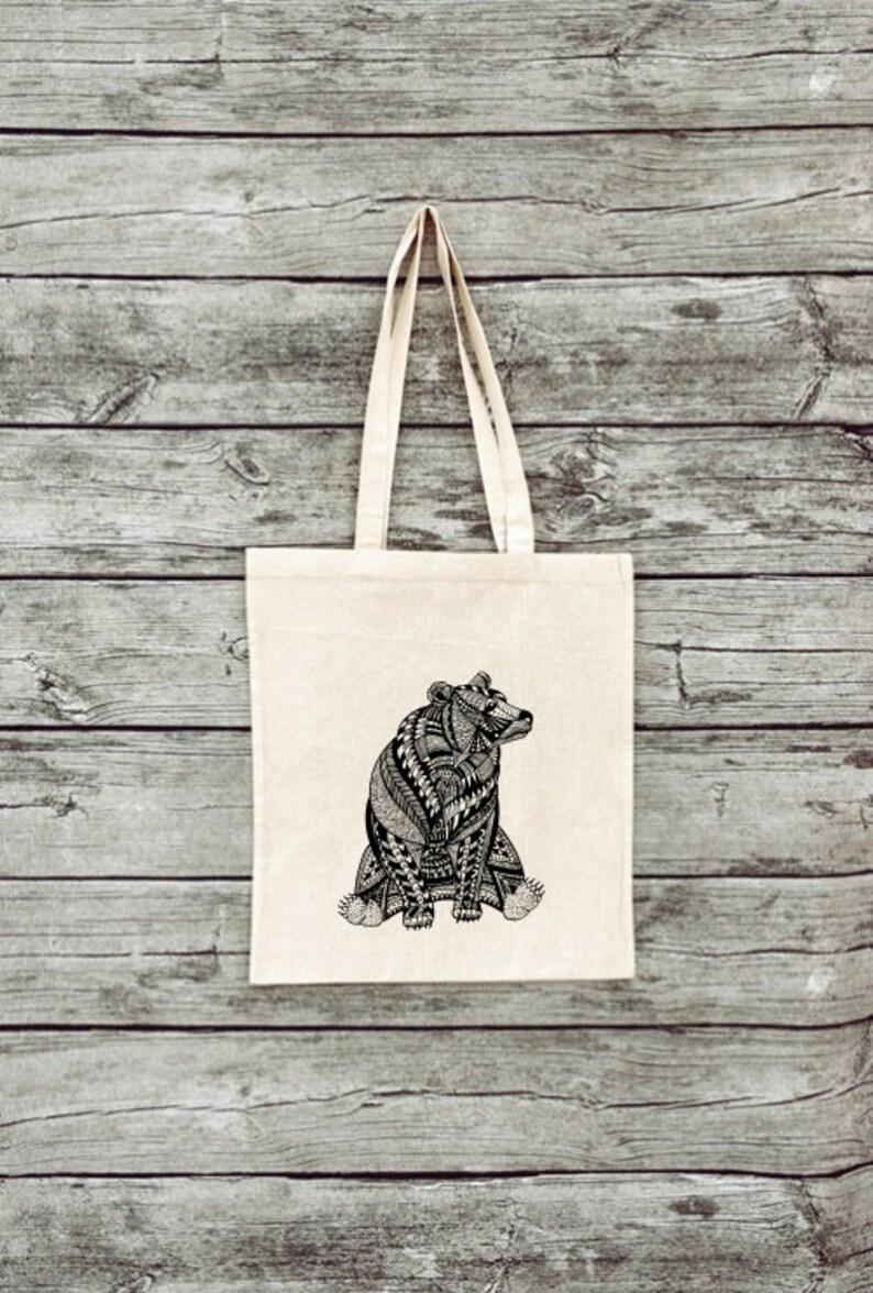 Jute bag Bear-Cotton