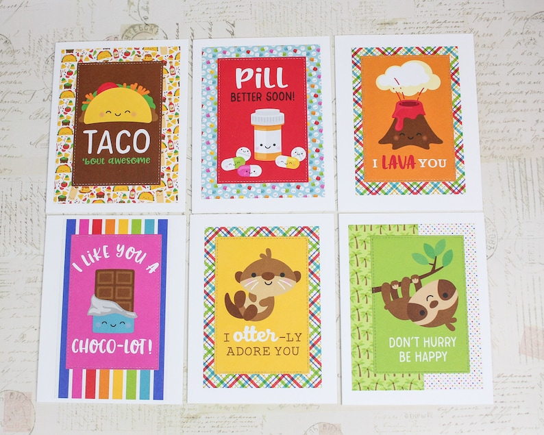 love punny card set get well encouragement cards 11 card oops All the puns