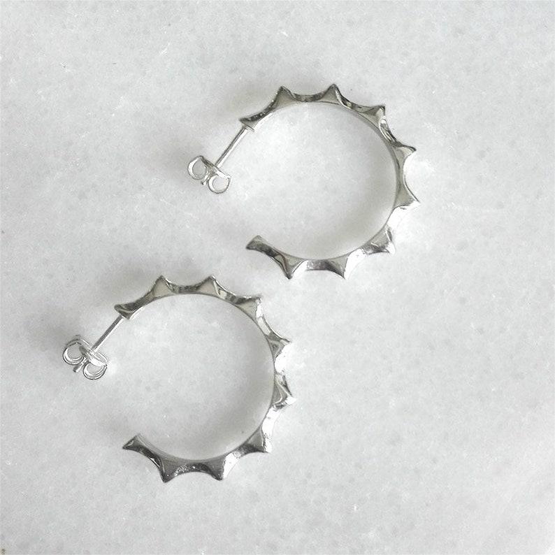 Spike Earrings \u2013 Sterlings Silver Hoops