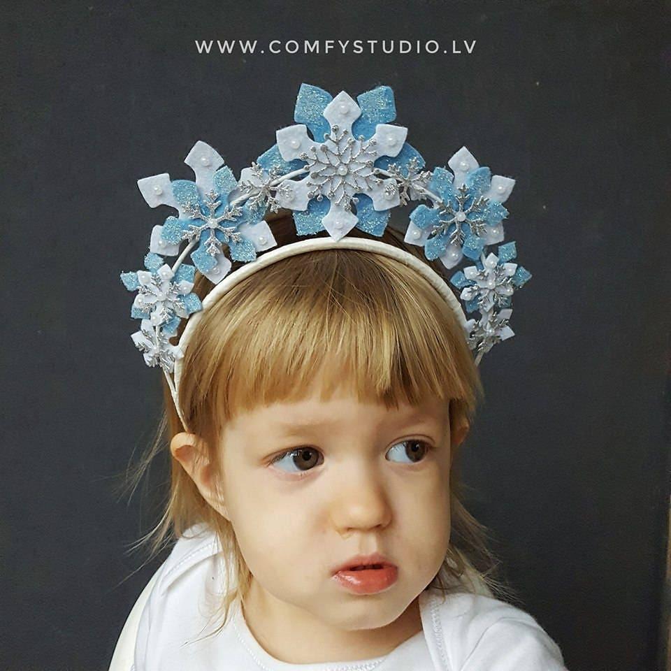 SnowFlake Headband Christmas Headband Girl Headband Xmas  cac533fc074