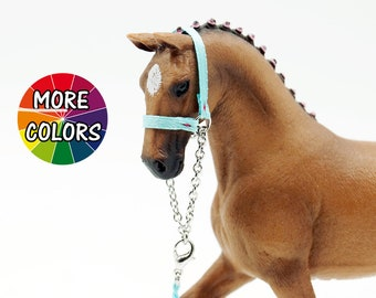 Sewn! Schleich Horse Show Halter & Lead Rope Set! 49 colors!