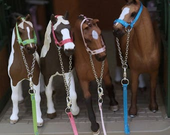 Sewn! Schleich Horse Halter & Lead Rope Set! 46 colors!