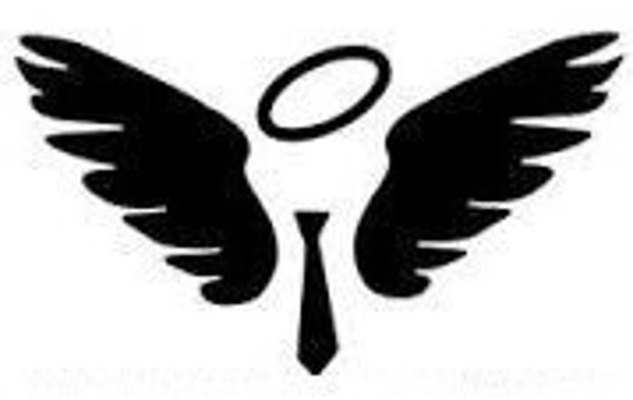 Castiel wings and tie downloadable cross stitch pattern pdf etsy ccuart Gallery