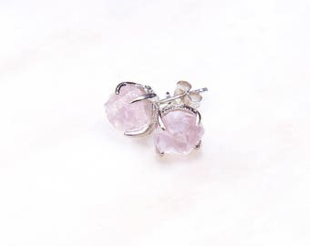 3 PAIRS @ 15% OFF: Silver Rose Quartz Earrings. Rose Quartz Bridesmaid Gift. Pink Bridal Jewelry. Rose quartz bridal earrings. RRP 237 Aud.