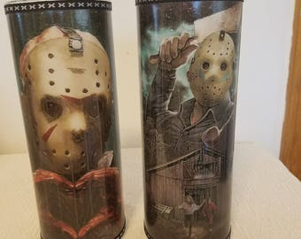 Friday the 13th Jason Voorhees set of 2 luminaries size 9 inches available only