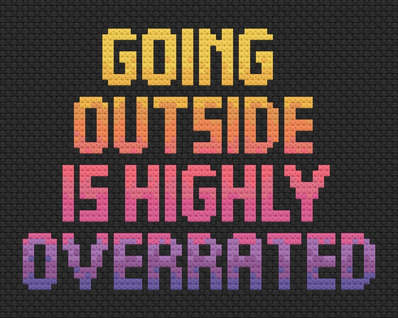 Going Outside cross stitch pattern all proceeds from this image 0