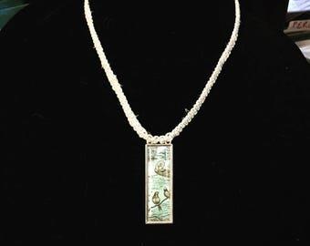 Japanese pendant etsy japanese style pendant hemp macrame necklace aloadofball Image collections