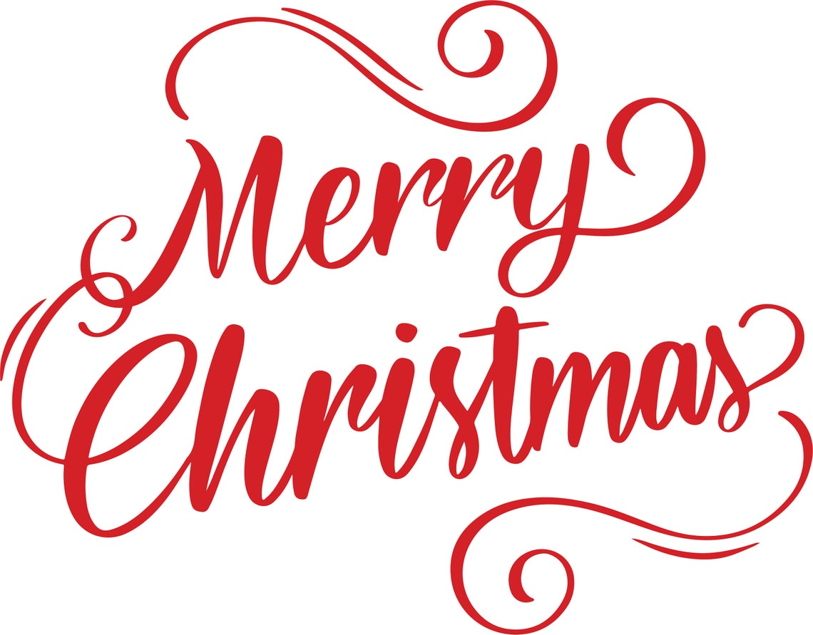 Merry Christmas Vinyl Merry Christmas Lettering Holiday image 0