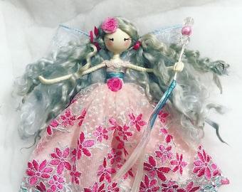 Fairy doll, whimsical doll, girls gift, birthday gift, hanging ornament, fairytale doll, heirloom doll, ornamental doll, girls bedroon decor