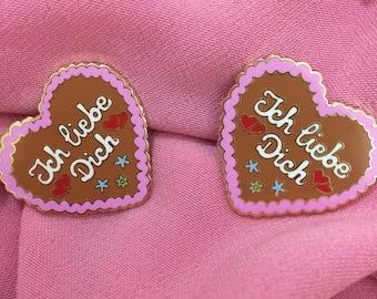 German Gingerbread Oktoberfest Christmas Lebkuchen Cookie Hard Enamel Pin Badge