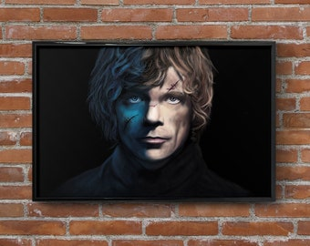 """Tyrion Lannister Art Print Game of Thrones Painting Peter Dinklage Portrait Wall Art Print Matted Print Framed Print TV Poster 4""""x6"""" 11""""x17"""""""