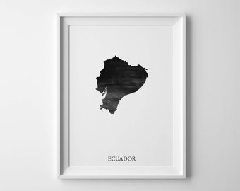 Ecuador map | Etsy