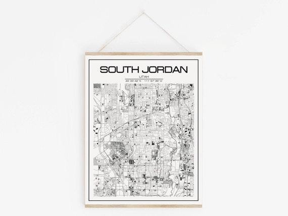 graphic regarding Printable Map of Utah identify South Jordan map poster print wall artwork, Utah map reward printable down load wall artwork. Custom made reward and Tailor made map present