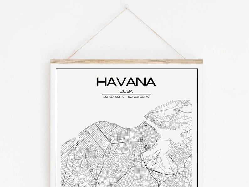 Havanna Kuba Karte.Havanna Karte Drucken Kuba Havanna Digitale Karte Kunstposter Havanna Kuba Wand Kunst Moderne Karte Dekor Für Büro Und Haus Personalisierte