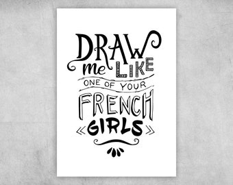 Postcard | Draw me like one of your French girls | A6