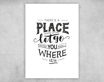 Postcard | There's a place where we can let go | A6