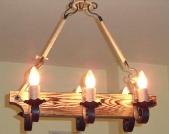 Recycled glass turquoise handmade chandelier handmade chandelier tuida aloadofball Images