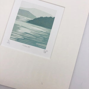 Pacific Northwest letterpress art print Mt Rainier