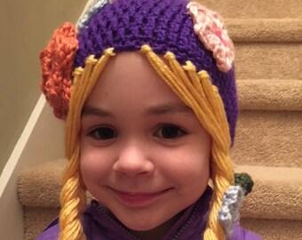 3b757c63440 Rapunzel Princess hat with braids
