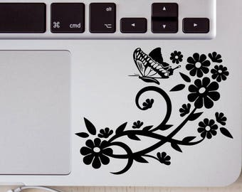 Butterfly and Flowers Vinyl Decals, Butterfly, Flowers, Vinyl Decals, Decals, Car Windows, Laptops, Tablets, Water Bottles, Tumblers, Flasks