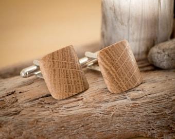 Handmade Oak Cufflinks