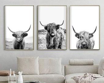 Highland Cow Decor Etsy