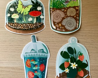 Fancy Terrarium Sticker Pack