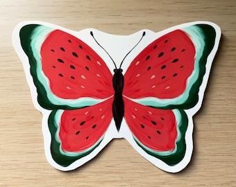 Watermelon butterfly sticker