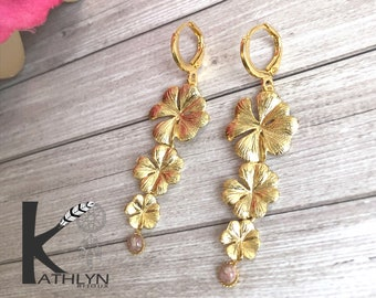 Floral dying earrings