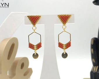 MAYA caramel and gold earrings