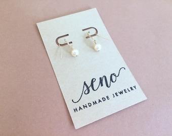 Swarovski pearls earrings, gold filled hooks, plastic hooks available.