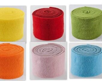 100/% Wollfilz 32 Farben 25 cm lang 25mm breit Filzstreifen 3mm dick