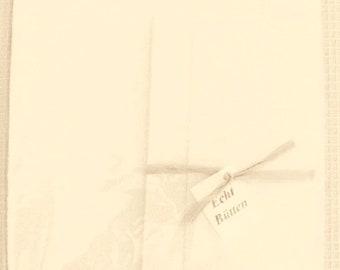 Stationery set - real handmade - 6 sheets each & envelopes, color: chamois
