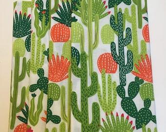 Cactus with Orange Ball Bloom Single Sided Set of 6 Cloth Napkins