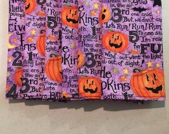 Five Little Pumpkins (6) Halloween Cloth Dinner Napkins