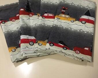 Christmas, Cabs & Cars (4) Cloth Dinner Napkins