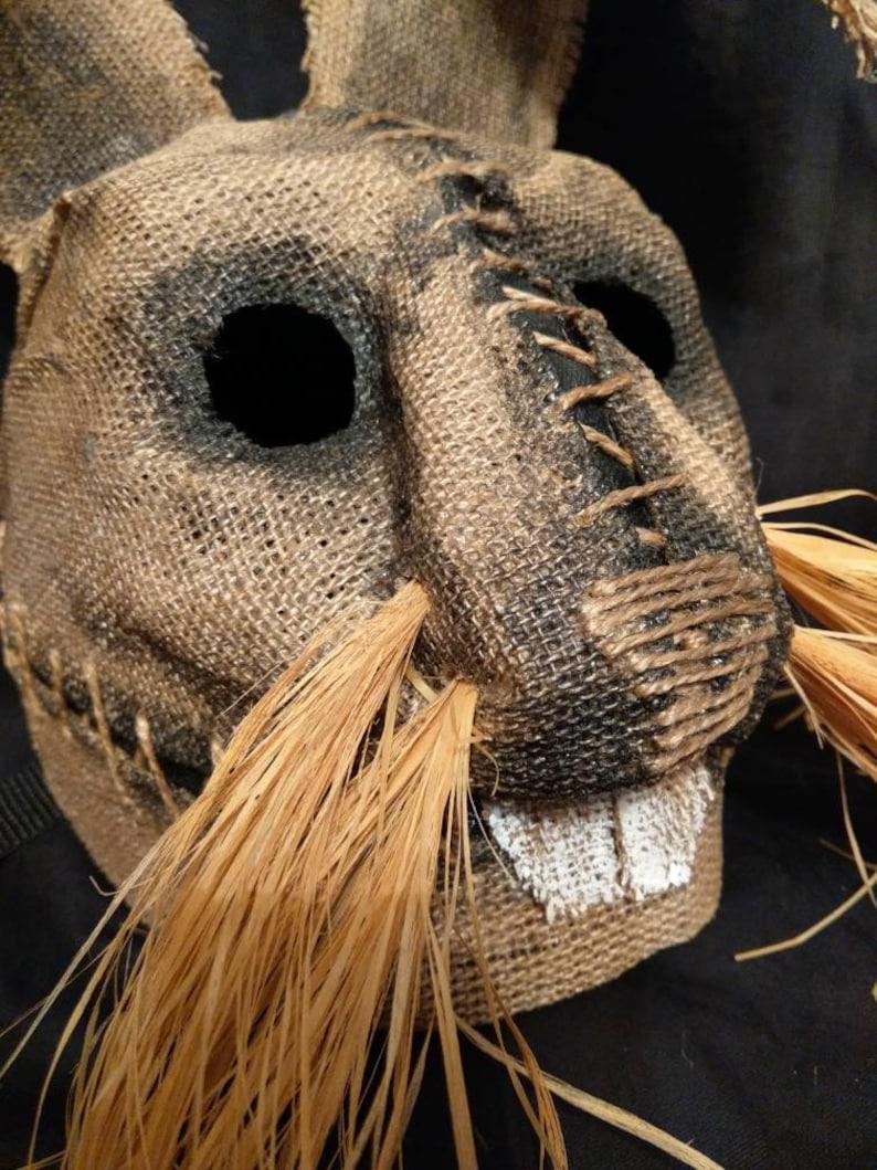 masquerade horror Mask Scarecrow Rabbit free shipping halloween