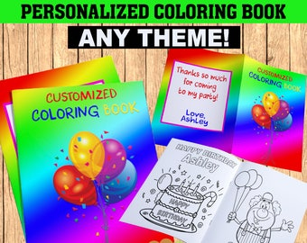 Custom coloring book | Etsy
