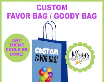Custom Favor Bags, Personalized Favor Bag - ANY THEME!
