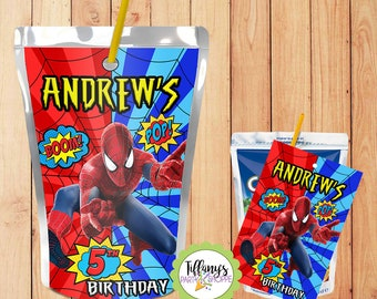 Spiderman Juice Pouch Label 8b8f28fa376dc