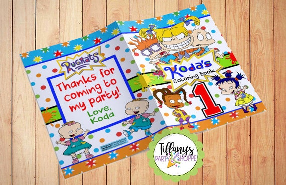 Rugrats Coloring Book Rugrats Party Favor Rugrats Favors   Etsy