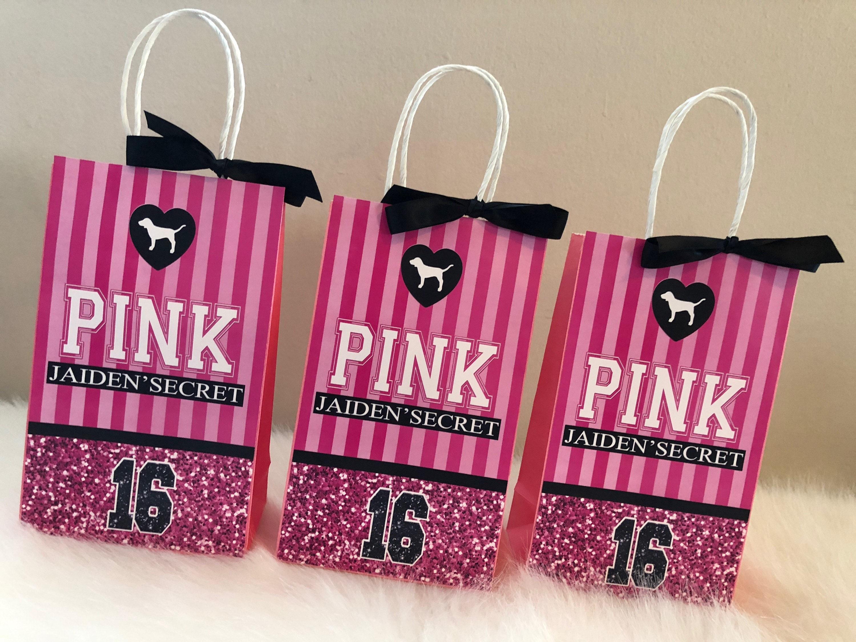 Victoria\'s Secret PINK Inspired Favor Bags PINK Favor | Etsy