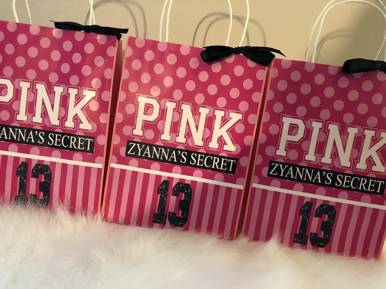 Victoria\'s Secret PINK Inspired Favor Gift Bags PINK | Etsy