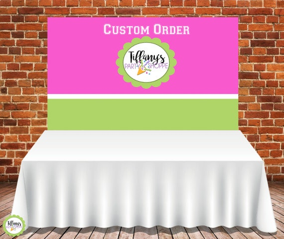 Custom Banner Backdrop Candy Buffet Table Banner Backdrop 6ft X
